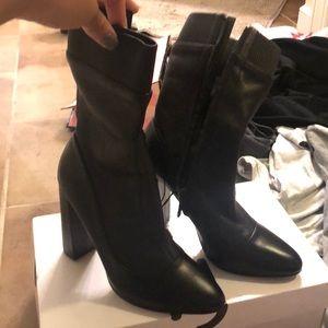 Zara Black Leather Boots!!! Brand New!!!!
